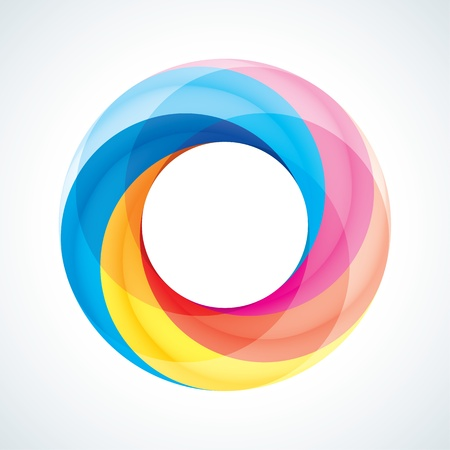 infinite loop: Abstract Infinite Loop Sign Template. Corporate Icon. 5 Pieces Shape.
