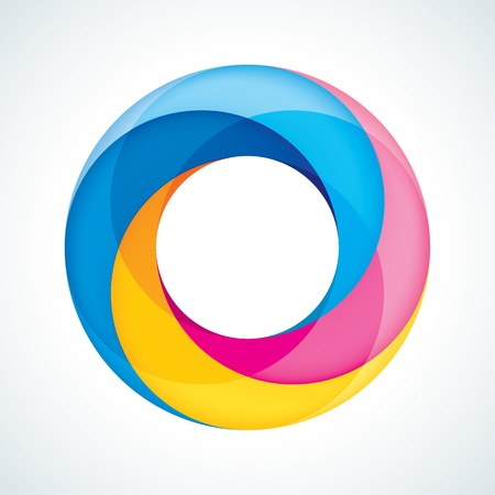 in the loop: Abstract Infinite Loop Sign Template  Corporate Icon  4 Pieces Shape