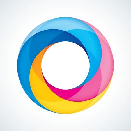 bucle: Resumen Infinite Loop Sign Plantilla de las empresas Icon 4 Piezas Forma Vectores