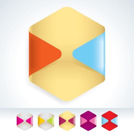 Вектор Пустые наклейки Простота преобразования цвета Иллюстрация