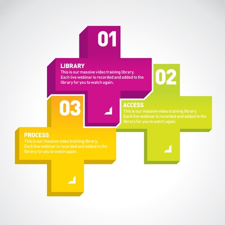 Modern cross infographics options banner  For presentations, reports, layout, diagram, number options, web design