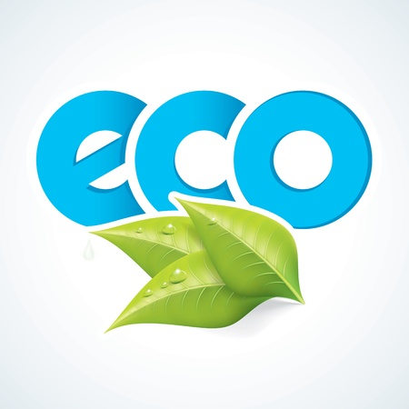 insect on leaf: Eco Symbol EPS10