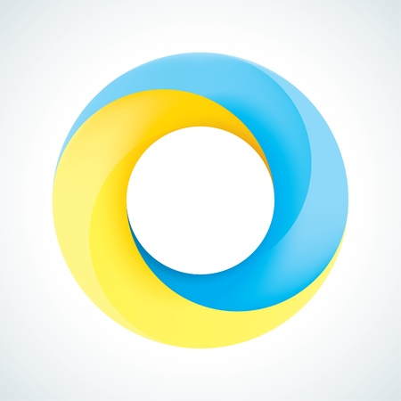 Abstract Infinite loop logo template  Corporate icon  2 Pieces Shape