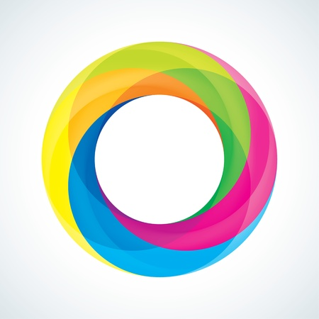 blue circles: Abstract Infinite loop logo template  Corporate icon  4 Pieces Shape Illustration