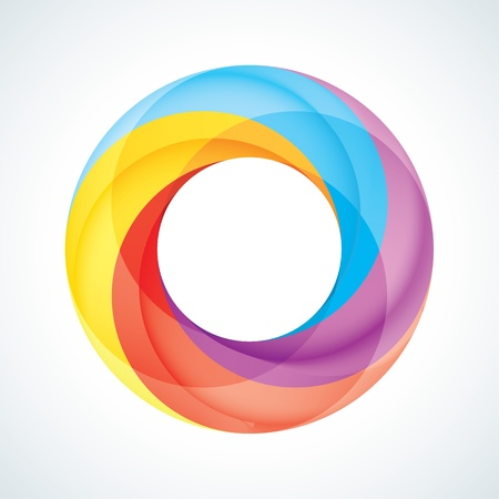 infinite loop: Abstract Infinite loop logo template  Corporate icon  4 Pieces Shape Illustration
