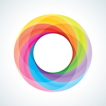 infinite loop: Abstract Infinite loop logo template  Corporate icon  6 Pieces Shape