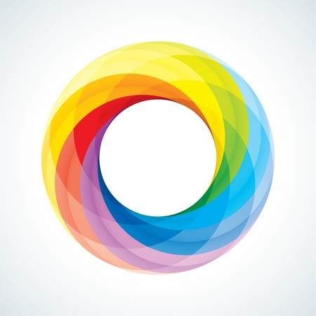 Abstract Infinite loop logo template  Corporate icon  7 Pieces Shape Illustration