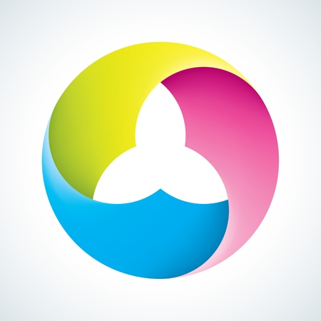 blue circles: Abstract flower signs  Corporate icons  EPS10 Illustration