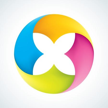 Абстрактных знаков цветок Корпоративные значки EPS10 Иллюстрация