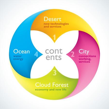 Цветочный стиль Инфографика