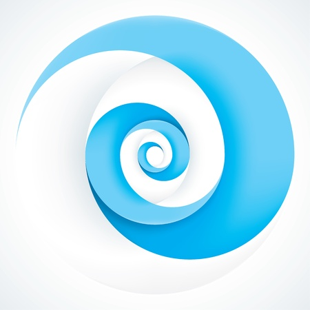 Abstract Infinite Loop Swirl Template  2 Pieces Shape  EPS10 Vector