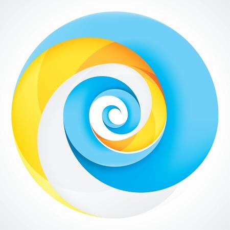 infinite loop: Abstract Infinite Loop Swirl Template  3 Pieces Shape  EPS10