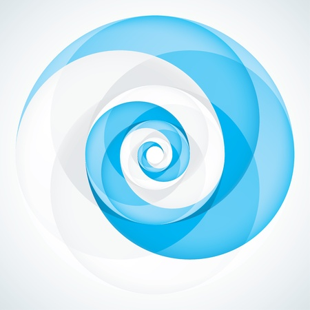 Abstract Infinite Loop Swirl Template  2 Pieces Shape  EPS10