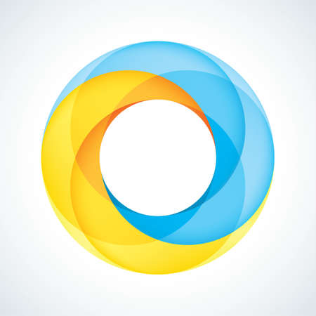 Abstract Infinite Loop Sign Template  Corporate Icon  2 Pieces Shape  EPS10