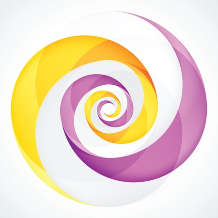 Abstract Infinite Loop Swirl Template  4 Pieces Shape  EPS10 Illustration