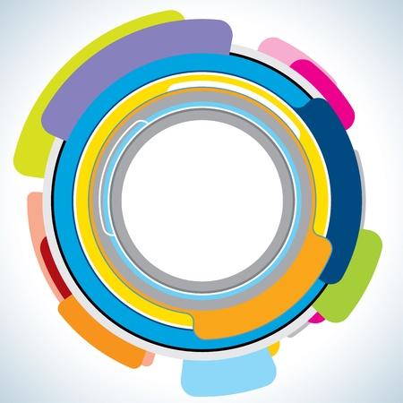Абстрактные дизайн шаблона Инфографика Иллюстрация