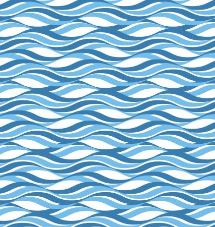 抽象的な波状海を背景  イラスト・ベクター素材