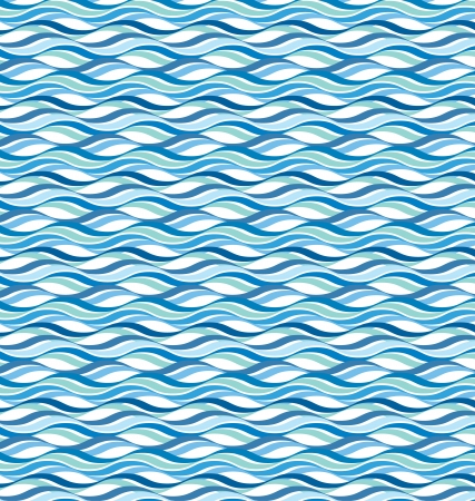 Abstract wavy ocean background Illustration