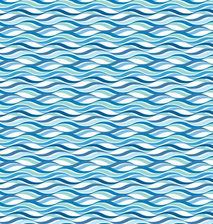 Abstract wavy ocean background Illustration