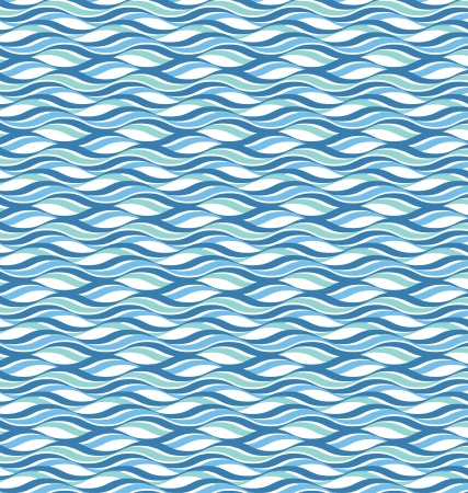 Abstract wavy ocean background Ilustrace