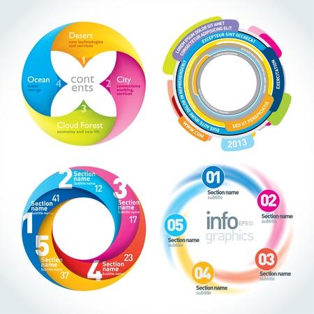 graphics: Abstract Circle Infograf�a plantilla de dise�o Vectores