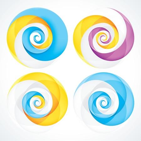 Аннотация Infinite Loop Swirl шаблона. EPS10