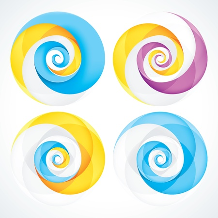 Abstract Infinite Loop Swirl Template. EPS10