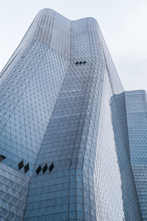 Skyscraper building with beautiful shape