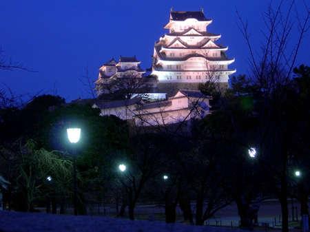 Himeji Castle on a winter night
