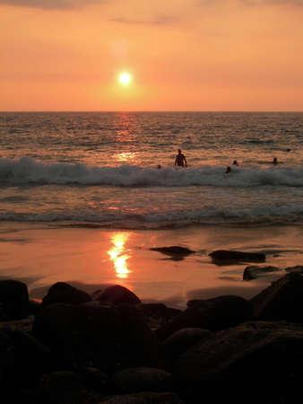 Sunset over Magic Sands Beach in Hawaii