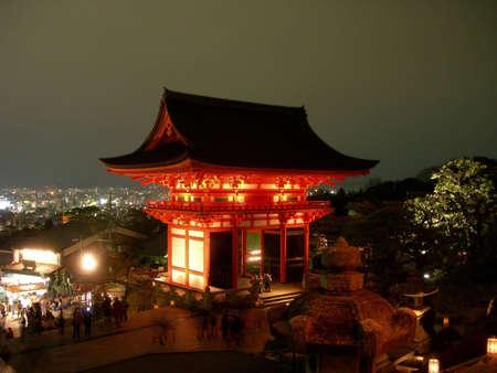 The gate to Kiyomizu Temple in Kyoto, Japan. Stok Fotoğraf