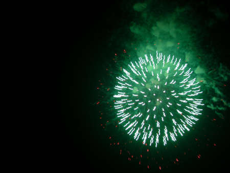 Green and red fireworks Banco de Imagens - 3958915
