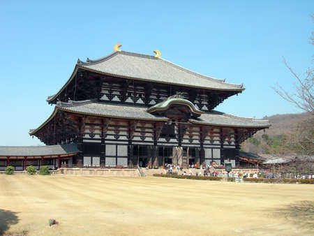 Todaiji temple in Nara, Japan, is the worlds largest wooden building as well as being a World Heritage site