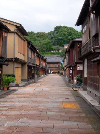 Old Geisya houses at Higashi Chaya District, Kanazawa Japan.