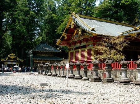 The beautiful sanctuaries at the Toshogu Shrine in Nikko, Japan
