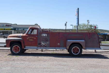 antique fire truck: classic fire truck