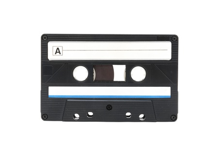 cassette tape: Cassette tape isolated on white background