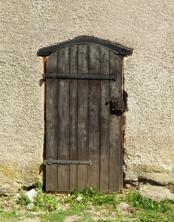 #5357876 - detail of an old door in castle in czech republic & Old Green Wooden Gate In The Rural Brick Wall Stock Photo Picture ...