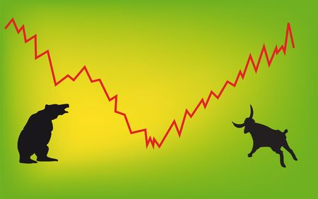 stock market - bulls, bears, forex, comodity, chart... photo