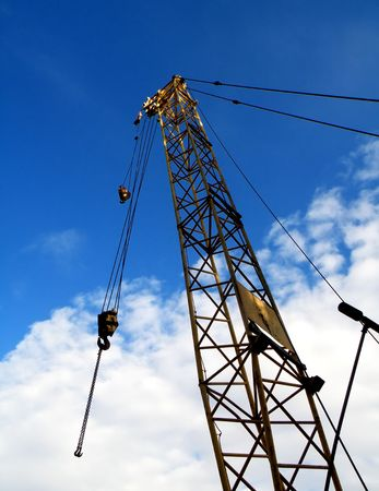 Detail of a crane isolated on blue sky    Stock Photo - 5588195