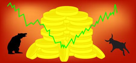 stock trader: Ilustraci�n del vector - forex, mercado de valores o de instalaciones m�s