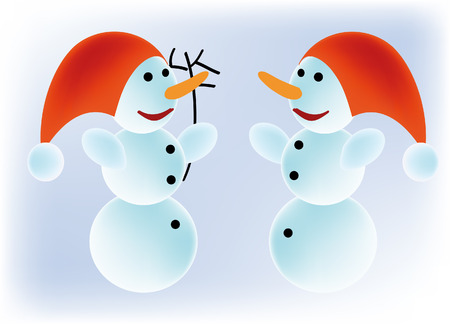 nice vector illustration of a snowmen Stock Vector - 5625616