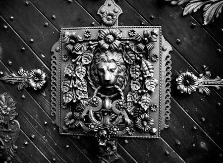 detail of a old castle door photo