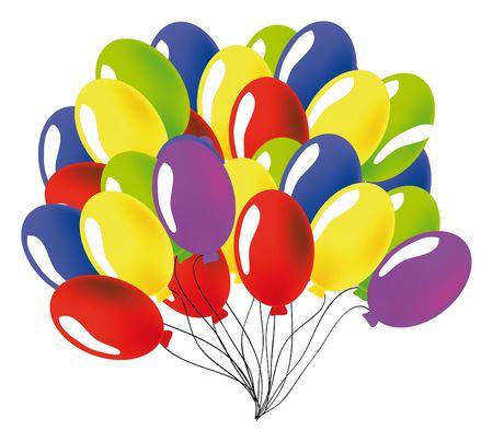 nice illustration of a ballon isolated on white illustration