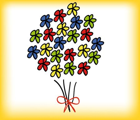 abstract illustration of a flower isolated on background Stock Illustration - 5690142