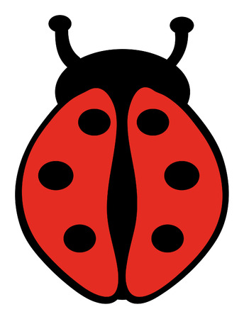 vector illustration of ladybug isolated on white background Vector