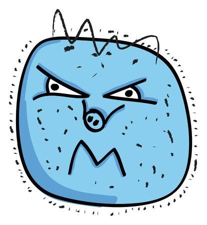 nice illustration of danger swine virus isolated on white Stock Illustration - 5905875