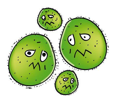 nice illustration of swine flu viruses isolated on white illustration