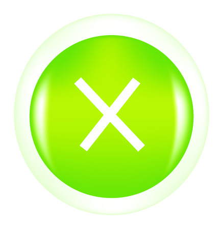 nice button with sign cancel isolated on white Vector