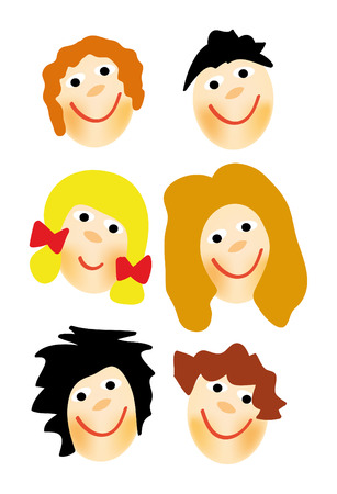 nice illustration of kids face isolated on white background Stock Vector - 5982250